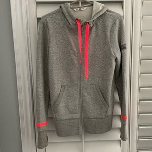 Gray with Pink Detailing Zip Up
